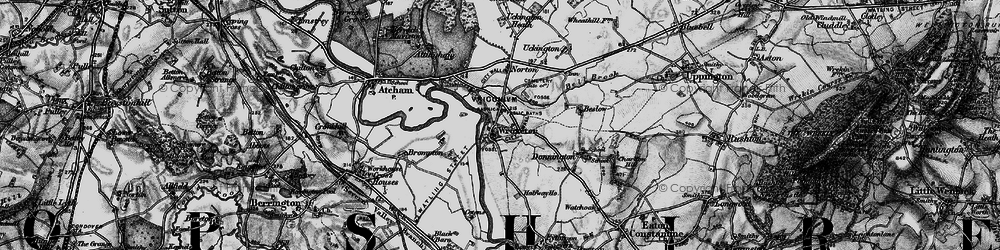 Old map of Wroxeter in 1899