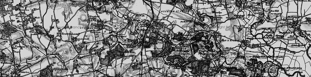 Old map of Wroxham in 1898