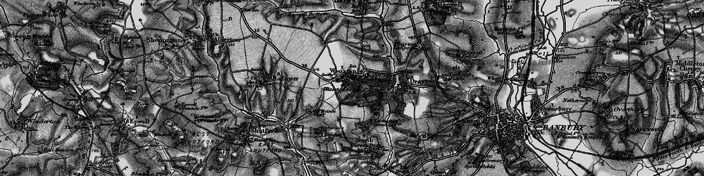 Old map of Wroxton Abbey in 1896