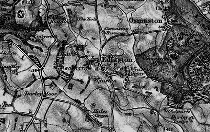 Old map of Wyaston in 1897