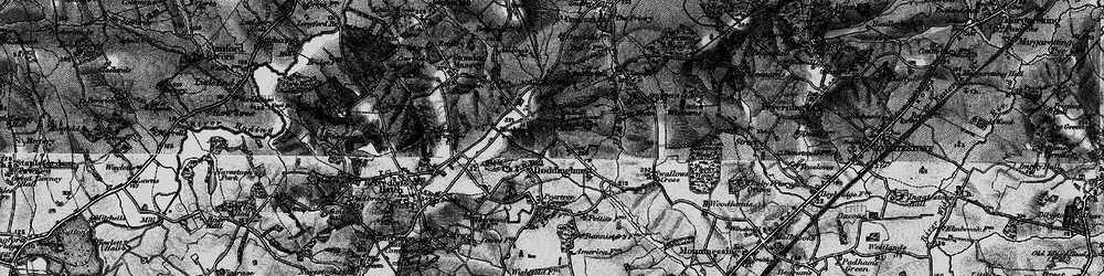 Old map of Wyatt's Green in 1896