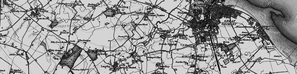 Old map of Wybers Wood in 1895