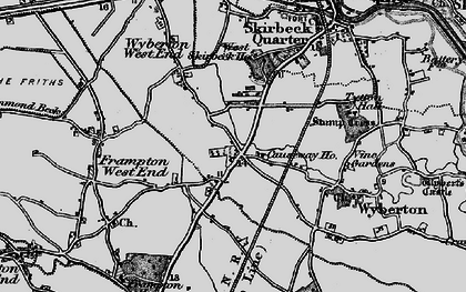 Old map of Wyberton in 1898