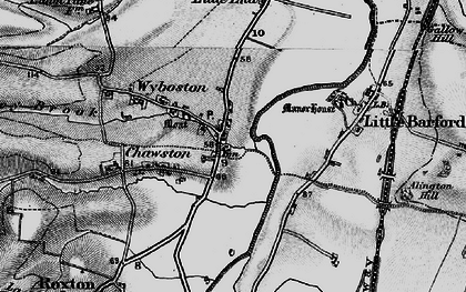 Old map of Wyboston in 1898