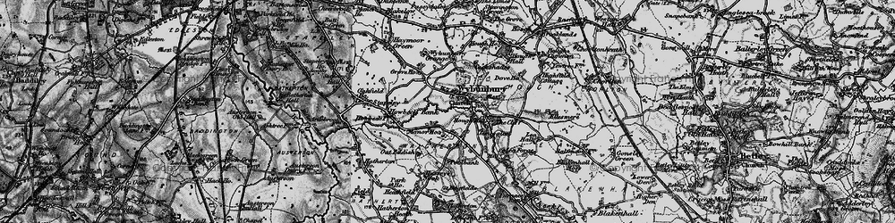 Old map of Wybunbury Grange in 1897
