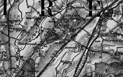 Old map of Wychbold in 1898
