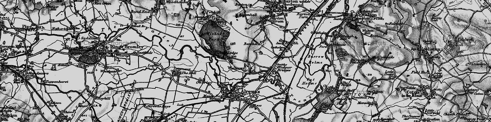 Old map of Wychnor in 1898