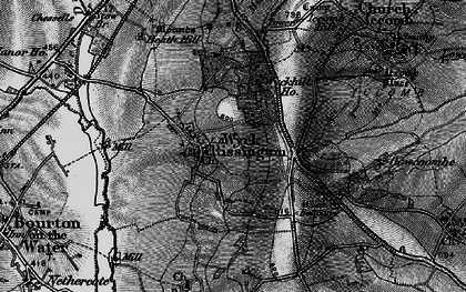 Old map of Wyck Rissington in 1896