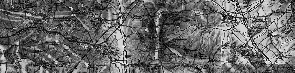 Old map of Wyck Hill in 1896