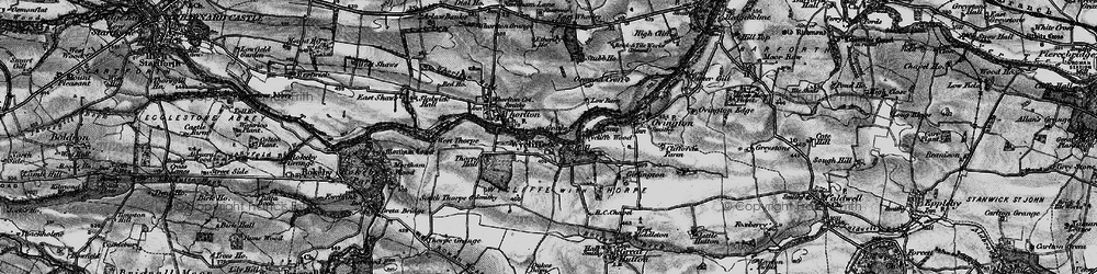 Old map of Wycliffe in 1897