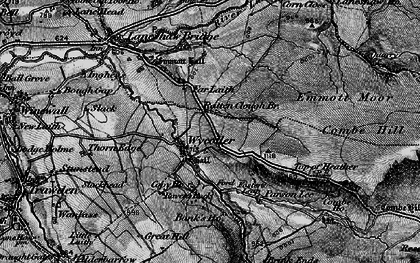 Old map of Wycoller in 1898