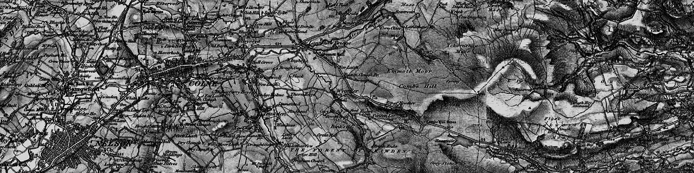 Old map of Wolf Stones in 1898