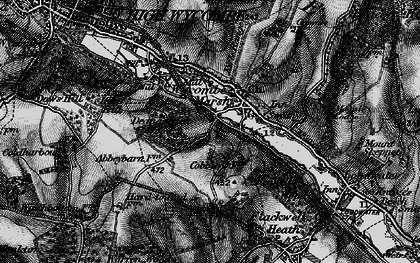 Old map of Wycombe Marsh in 1895