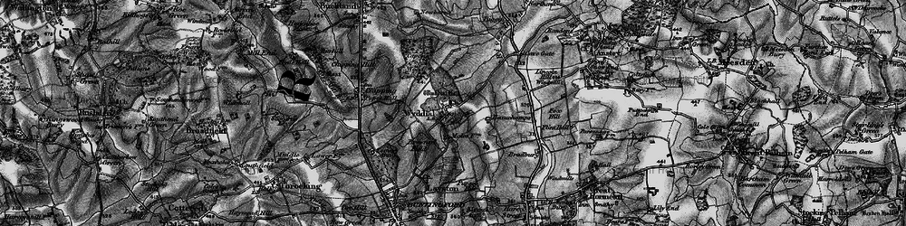 Old map of Wyddial in 1896