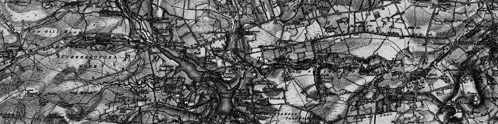Old map of Worstall Craggs in 1898