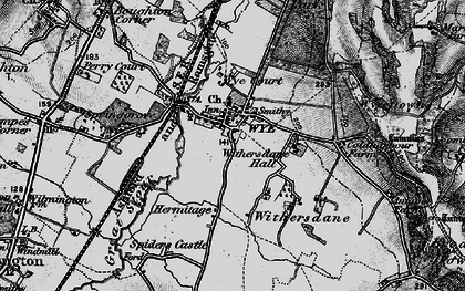 Old map of Wye Court in 1895