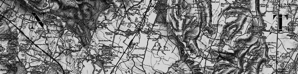 Old map of Wye in 1895