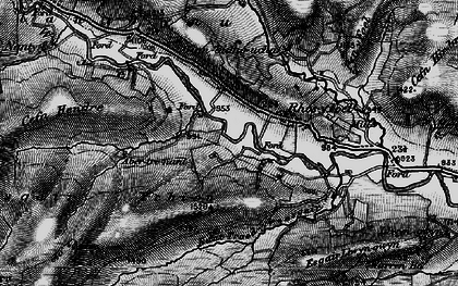 Old map of Wye Valley in 1899