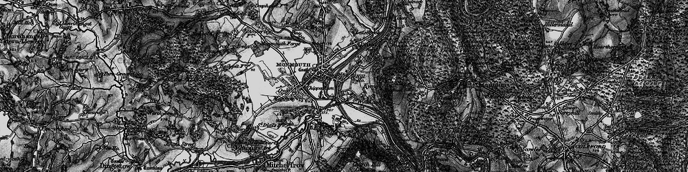 Old map of Wyesham in 1896