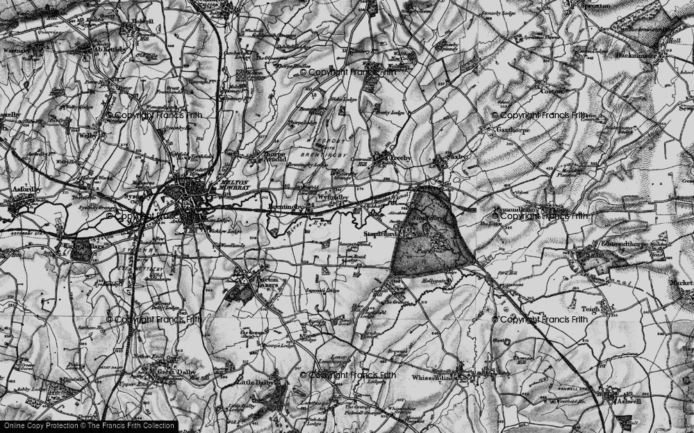 Old Map of Historic Map covering Laxton's Covert in 1899