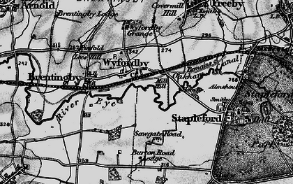 Old map of Wyfordby in 1899