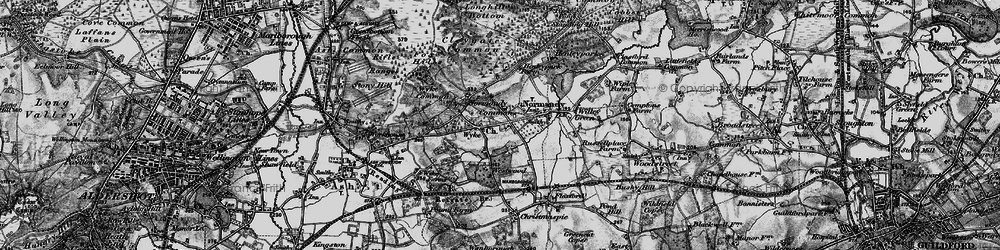 Old map of Wyke in 1896