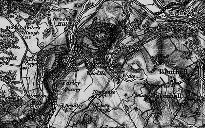Old map of Wyke in 1899