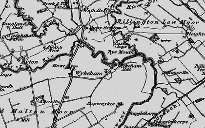 Old map of Wykeham in 1898