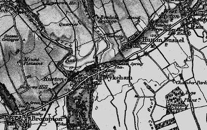 Old map of Wykeham Abbey in 1898
