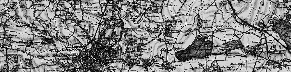 Old map of Wyken in 1899