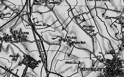Old map of Wykin Fields in 1899