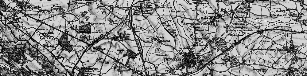 Old map of Wykin in 1899