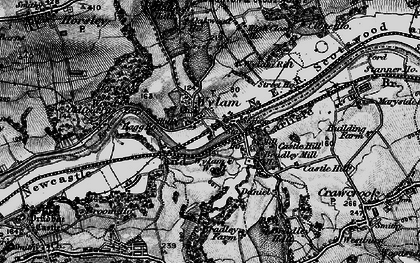 Old map of Wylam in 1898