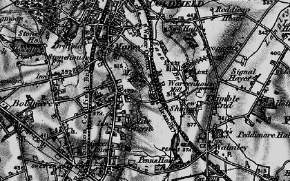 Old map of Wylde Green in 1899