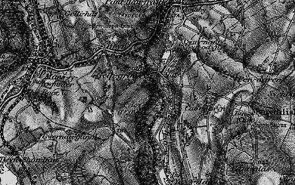 Old map of Wyllie in 1897