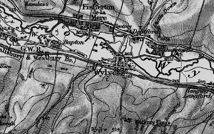 Old map of Bake, The in 1898