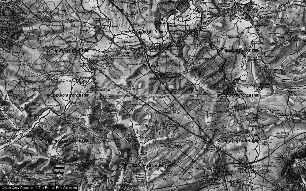 Old Map of Wymbush, 1896 in 1896