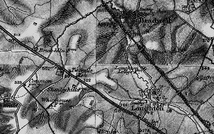 Old map of Wymbush in 1896
