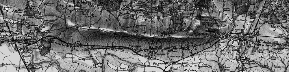 Old map of Wymering in 1895