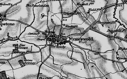 Old map of Wymeswold in 1899