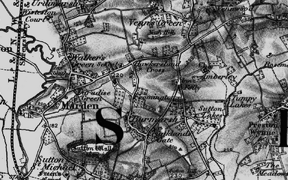 Old map of Wymm, The in 1898