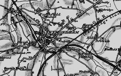 Old map of Wymondham in 1898