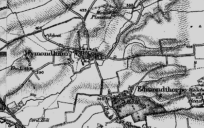 Old map of Wymondham in 1899