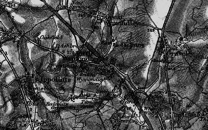 Old map of Wymondley Bury in 1896
