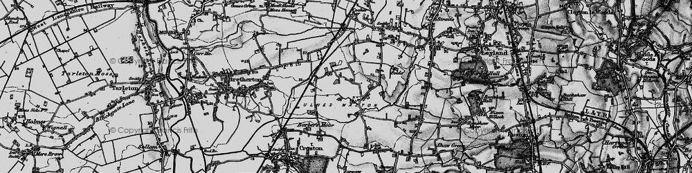 Old map of Wymott in 1896