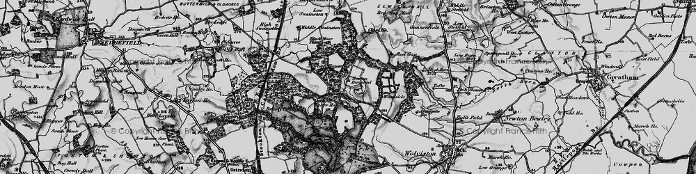 Old map of Whinny Moor Plantn in 1898