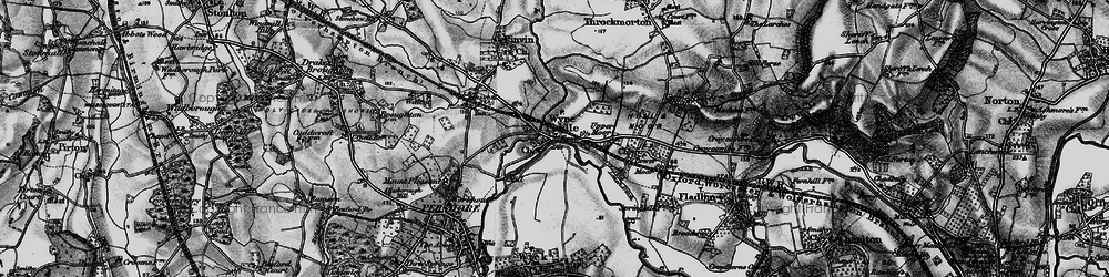 Old map of Wyre Mill in 1898