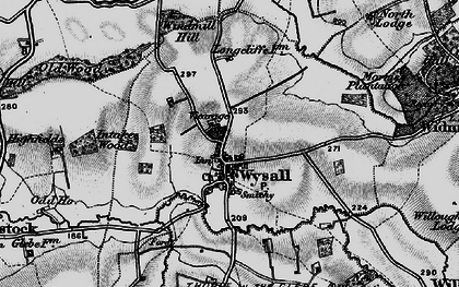 Old map of Wysall in 1899