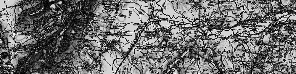 Old map of Wyson Common in 1899