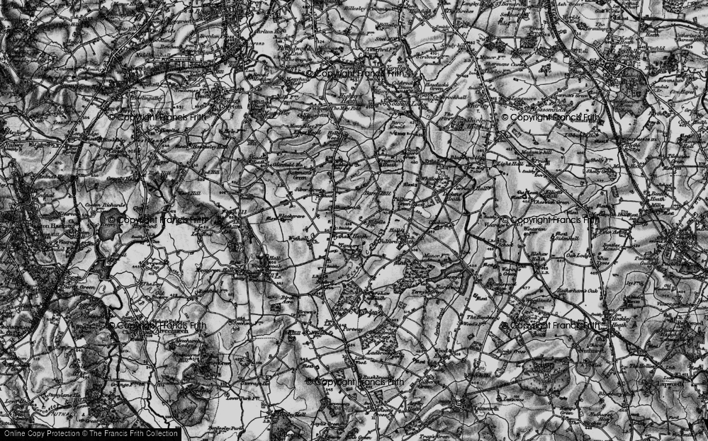 Old Map of Wythall, 1899 in 1899
